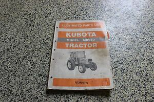 Kubota M8950 Tractor Illustrated Parts List Parts Manual