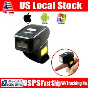 Mini Handheld Btooth Ring Finger Barcode Scanner Reader For Android