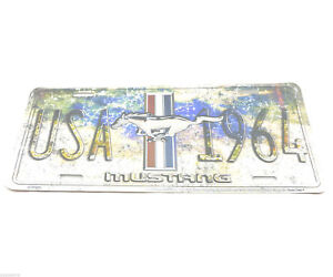 Ford Mustang Usa 1964 Licensed Aluminum Metal License Plate Sign Tag New