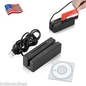 2in1 Usb Magnetic Credit Card Reader Stripe Swipe 3 Track Ic Card Reader Writer