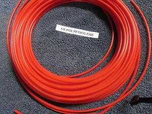 1 8 Pneumatic Polyethylene Tubing For Push In Fittings Red 10 Ft Pe021 r