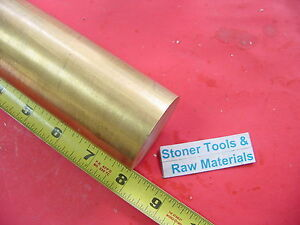 1 3 4 C360 Brass Round Rod 8 Long Solid 1 75 Diameter H02 Lathe Bar Stock