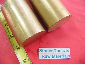 2 Pieces 1 3 4 C360 Brass Round Rod 4 Long Solid 1 75 Od H02 Lathe Bar Stock