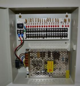 18 Channels 12v Dc Regulated Distributed Power Supply Security Panel 20 Amp