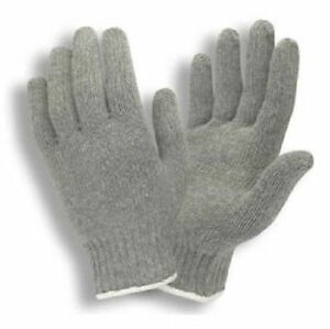 300 Pair Gray String Knit Gloves Cotton Polyester Mens Large New Grey 3411g