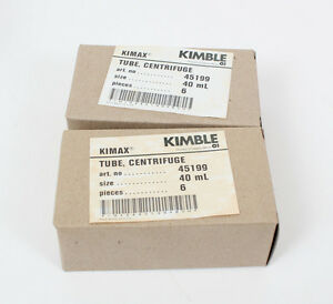 New Lot Of 12 Kimble Kimax Heavy Duty Centrifuge Tubes 45199 40