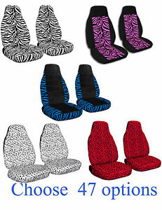 Cc 2007 2014 Fits Smart Fortwo In Zebra Designs Car Seat Covers Choose Color