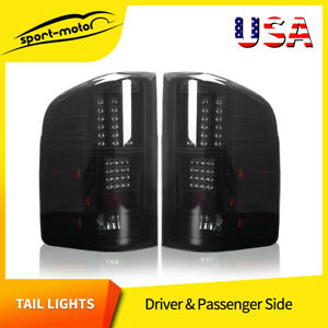 Led Tail Lights Replacement For 2007 2013 Chevy Silverado Black Smoke Rear Lamps