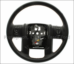 New Oem Black Leather Steering Wheel 2013 2015 Ford F250 F350 F450 Super Duty