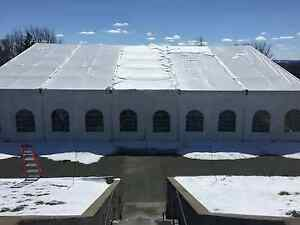 Used Roder Clear Span Tent 82ftx116 Ft