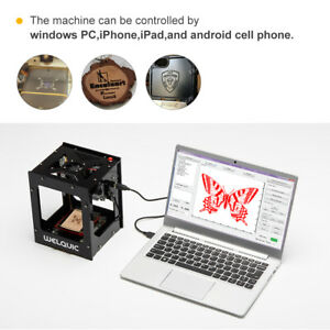Welquic 1500mw Bluetooth Laser Engraving Machine Dual Usb Port For Ipad tablets