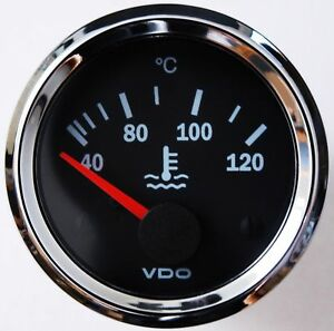 Vdo Chrome International Cool Water Thermometer Coolant Temperature 52mm