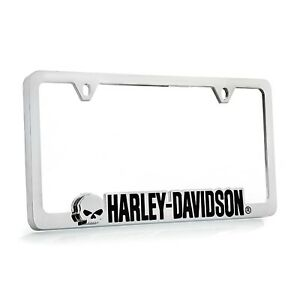 Harley Davidson Willie G Cutout Chrome Plate Two Hole License Plate Frame