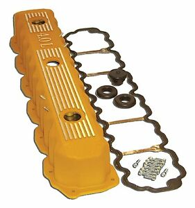 Jeep Fits Various Models Of 4 0l Engine Aluminum Valve Cover Yellow