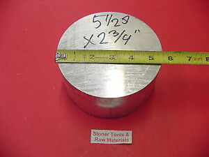 5 1 2 Aluminum 6061 Round Rod 2 3 4 Long T6511 Solid Lathe Bar Stock