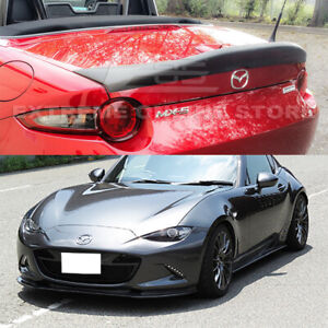 Fit 16 up Miata Mx5 Nd Leg Sport Style Frp Primer Black Front Lip Rear Spoiler
