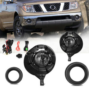 For 2005 2016 Nissan Frontier W Metal Chrome Bumper Only Fog Lights Complete Kit