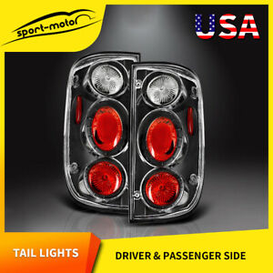 For 2001 2004 Toyota Tacoma Tail Lights Black Clear Brake Rear Lamps Left right