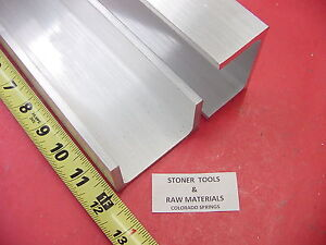 2 Pieces 3 x 1 75 Aluminum Channel 6061 X 26 Flang 12 Long T6 Mill Stock
