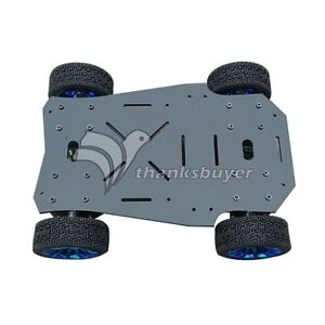 4wd Drive Acrylic Mobile Robot Car Chassis Tracking Platform F Robot Arduino Uno