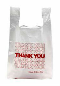 Thank You T shirt Bags 11 5 X 6 X 21 White Plastic Shopping Bags