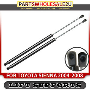 2 Tailgate Rear Lift Supports Shock For Toyota Sienna 2004 2005 2006 2007 08 10