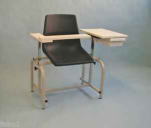 Brandt 20701 Metal Frame Blood Drawing Chair For Both Left Right Arms