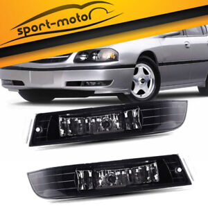 For 2000 2005 Chevy Impala Clear Lens Fog Lights Front Bumper Lamps W bulbs Pair