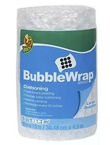 6 duck Bubble Wrap Cushioning Large Bubbles 12 Inches X 15 Feet 6 Rolls