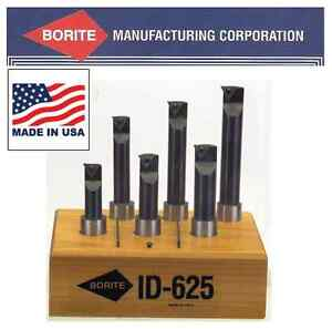 Borite Indexable Boring Bar Set 5 8 Sh 7 16 Min Bore 6 Bars Included Usa Made