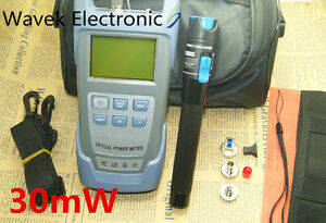 Fiber Optical Power Meter And 20 30km 30mw Visual Fault Locator Cable Tester