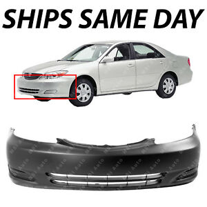 New Primered Front Bumper Cover Fascia For 2002 2003 2004 Toyota Camry 02 04