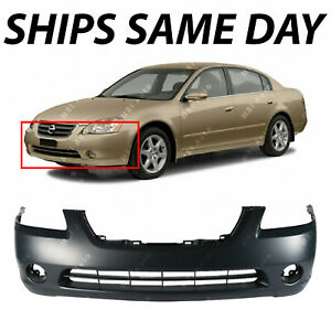 New Primered Front Bumper Cover Replacement For 2002 2004 Nissan Altima 02 04