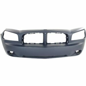 New Front Bumper Cover Primed Fits 2006 2010 Dodge Charger 4806179ae