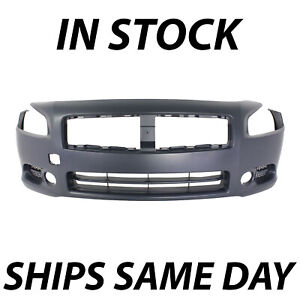 Primered Front Bumper Cover Fascia Replacement For 2009 2014 Nissan Maxima