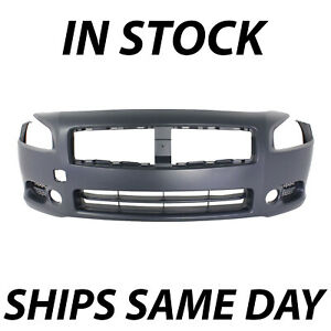 New Primered Front Bumper Cover Fascia Replacement For 2009 2014 Nissan Maxima