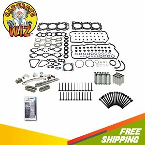 Full Gasket Set Timing Chain Exhaust Intake Valves Guides Bolts Fits 24v Vq30de