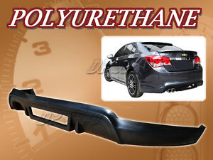 For 11 12 Chevy Cruze T 3 Rear Bumper Lip Body Spoiler Kit Polyurethane Pu