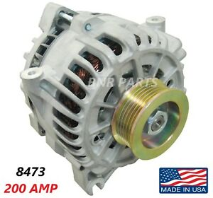 200 Amp 8473 Alternator New Ford E Series High Output Performance Hd Made In Usa