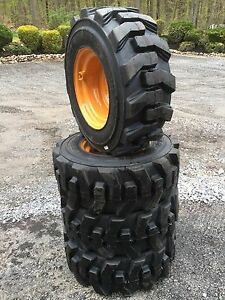 12 16 5 Carlisle Ultra Guard Skid Steer Tires wheels rims For Case 1845c 12x16 5