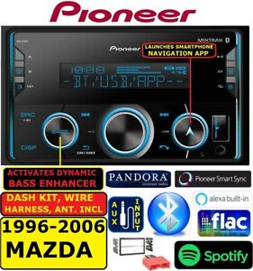96 06 Mazda Double Din Am fm Bluetooth Usb Ipod Iphone Aux Car Stereo Radio