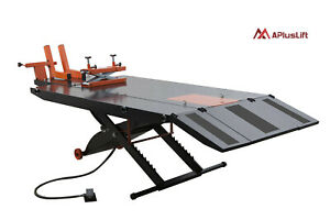 Upgraded Apluslift 1500lb Air Op Motorcycle Atv Lift Table W Side Ex Mt1500x