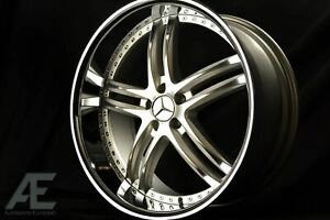 22 Inch Mercedes Bentley Continental Gt Wheels Rims Gtx 15 5x112 Silver Machine