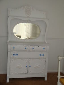 Shabby Chic Framed Roses Center Lg Furniture Applique Architectural Pediment