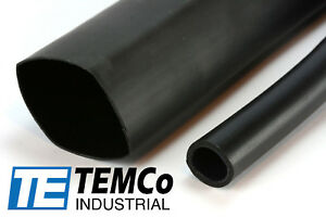 4 Lot Temco 1 5 Marine Heat Shrink Tube 3 1 Adhesive Glue Lined 4 Ft Black