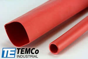8 Lot Temco 1 Marine Heat Shrink Tube 3 1 Adhesive Glue Lined 4 Ft Red