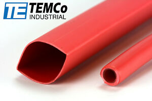 8 Lot Temco 3 4 Marine Heat Shrink Tube 3 1 Adhesive Glue Lined 4 Ft Red