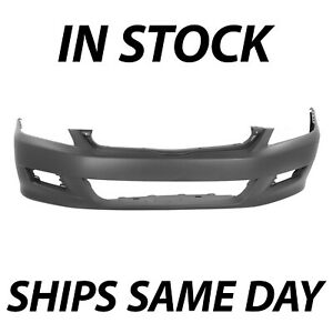 New Primered Front Bumper Cover Fascia For 2006 2007 Honda Accord Coupe 06 07