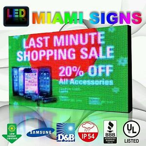 Full Color Led Sign 13 X 38 P10 Outdoor Programmable 10mm Pitch Led Display Us