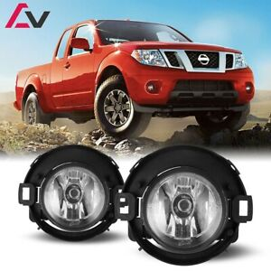 10 19 For Nissan Frontier Clear Lens Pair Fog Light Lamp Wiring Switch Kit